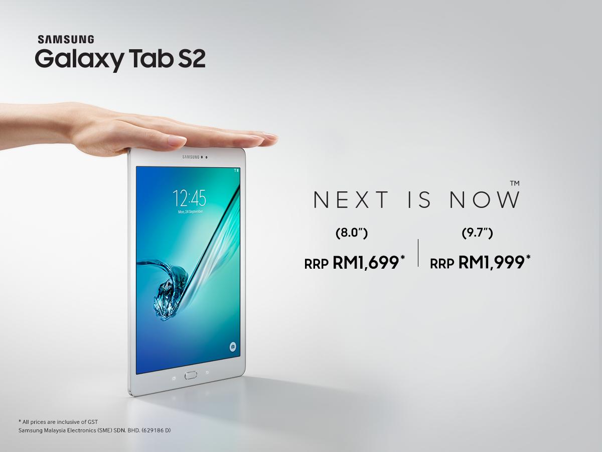 Samsung Galaxy Tab S2 Price In Malaysia