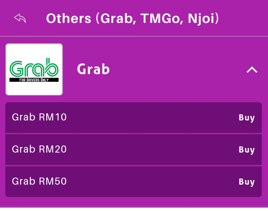 How to reload Grab Prepaid